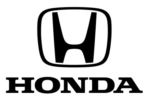 large black and white honda logo