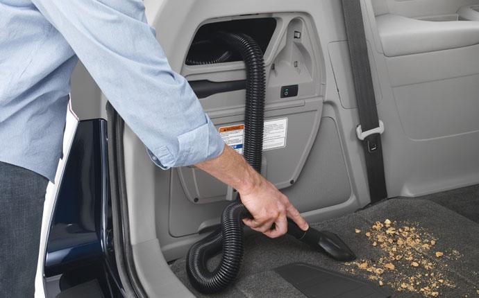 minivan with vacuum