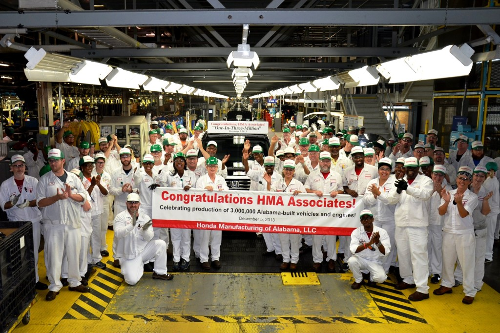 Workers at the Honda Plant in Alabama Celebrate The Completion Of the 3 Millionth Vehicle Assembled in Alabama