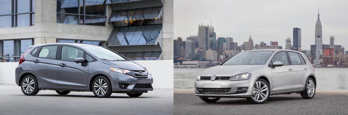 Comparing Hatchbacks 2015 Honda Fit vs 2015 Volkswagen Golf
