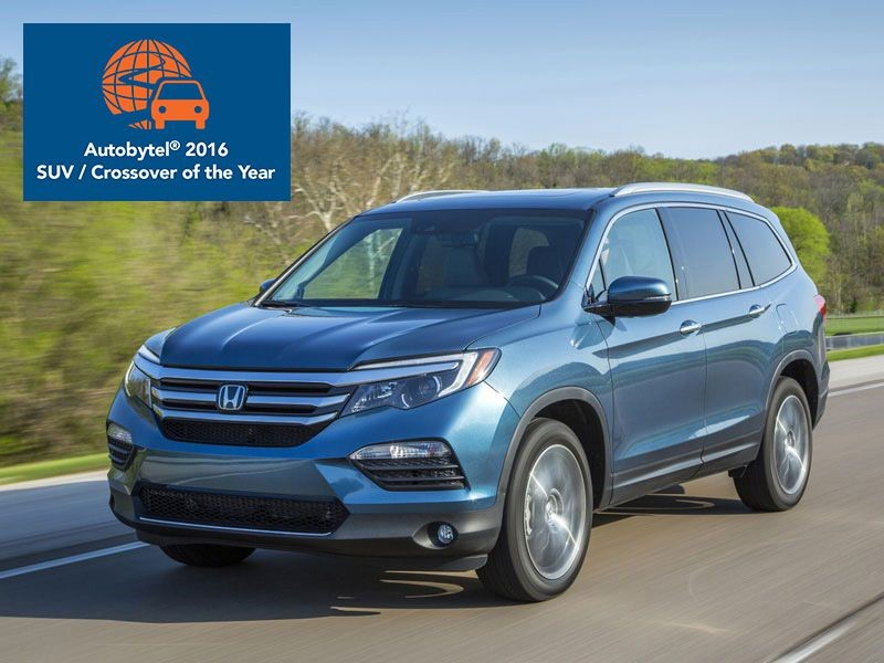 2016 Honda Pilot Is Best Midsize SUV Buy of the Year - Brannon Honda Reviews, Specials and Deals