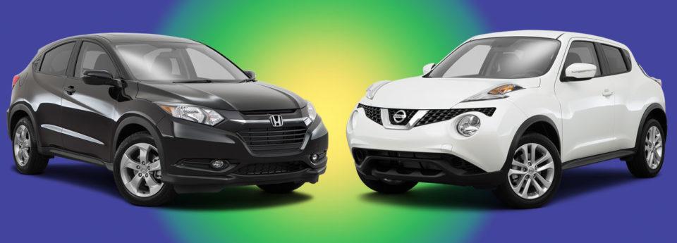 Honda hr v goes head to head with the nissan juke for Nissan juke vs honda hrv