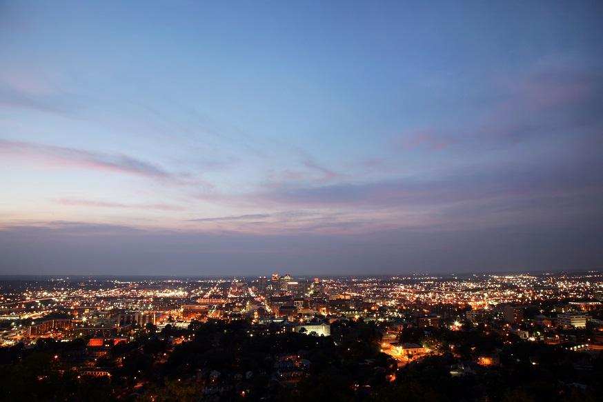 Birmingham at Night - Wide Angle
